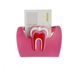 Visitenkartenständer Zahn PINK